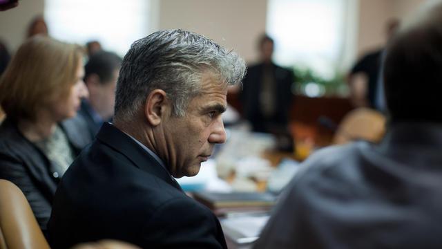 Le ministre israélien des Finances, Yair Lapid, le 13 mai 2013 à Jerusalem [Uriel Sinai / Pool/AFP/Archives]