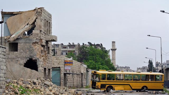 Une rue d'Alep, le 13 mai 2013 [ / AFP/Archives]