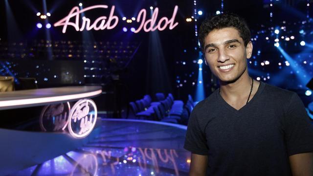 Mohammad Assaf lors d'une répétition, le 17 mai 2013, dans la ville de Jounieh, au nord de Beyrouth [Anwar Amro / AFP/Archives]