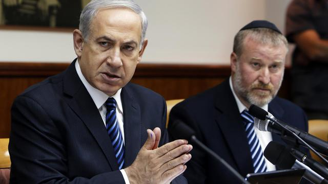 Le Premier ministre Benjamin Netanyahu, le 19 mai 2013 à Jérusalem [Ronen Zvulun / Pool/AFP]