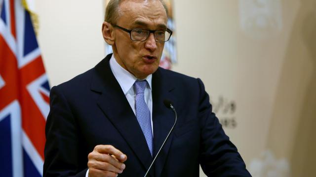 Le ministre australien des Affaires étrangères Bob Carr, le 19 mai 2013 lors d'un déplacement à Abou Dabi [Marwan Naamani / AFP/Archives]