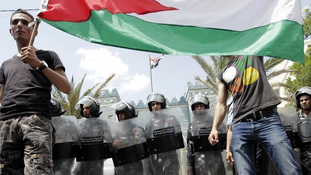 Manifestation à Amman devant l'ambassade irakienne, le 21 mai 2013 [Khalil Mazraawi / AFP/Archives]