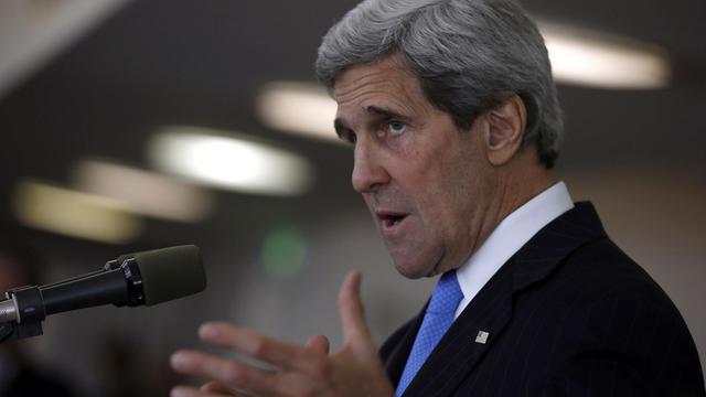 John Kerry lors d'une conférence de presse le 24 mai 2013 à Tel Aviv [Jim Young / Pool/AFP]