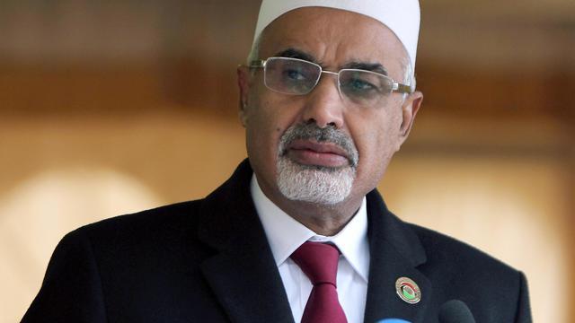 Mohamed al-Megaryef, président de l'Assemblée nationale libyenne, le 17 février 2013 à Benghazi [Abdullah Doma / AFP/Archives]