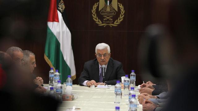 Le président palestinien Mahmoud Abbas, à Ramallah le 28 mai 2013 [Abbas Momani / AFP/Archives]
