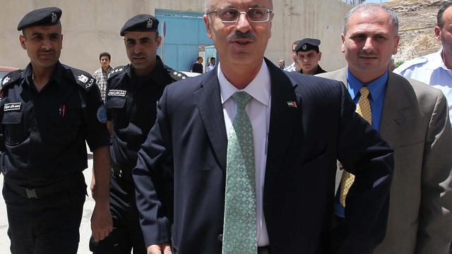 Un nouveau chef du gouvernement de l'Autorité palestinienne, l'universitaire Rami Hamdallah, le 4 juin 2013 à Naplouse [Jaafar Ashtiyeh / AFP]