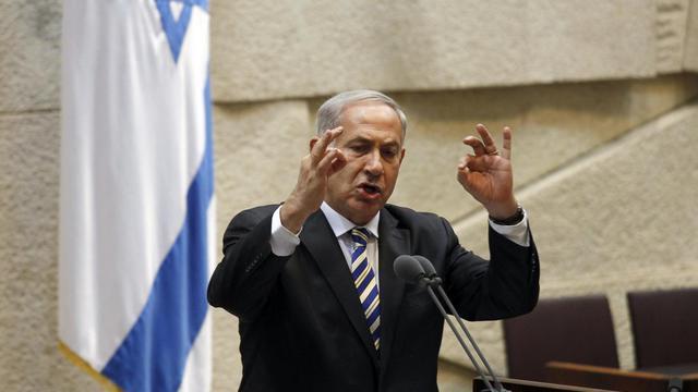 Le Premier ministre israélien, Benjamin Netanyahu, le 5 juin 2013 à la Knesset à Jérusalem [Gali Tibbon / AFP/Archives]