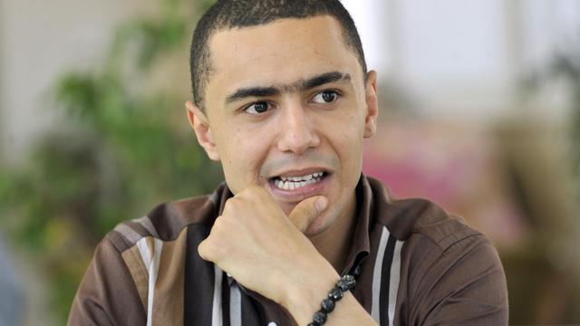 Le rappeur tunisien Weld El 15, le 13 juin 2013 à Tunis [Fethi Belaid / AFP]