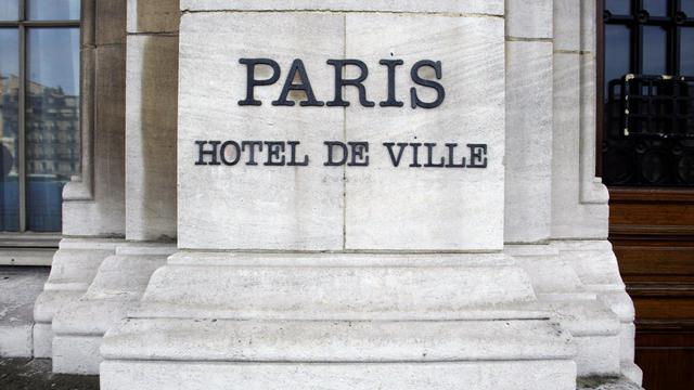Une partie de la façade de l'Hôtel de Ville de Paris le 3 mars 2004 [Jacques Demarthon / AFP/Archives]