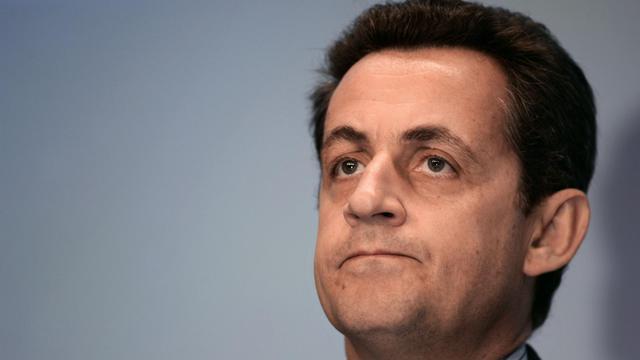 Nicolas Sarkozy, alors ministre de l'Economie, le 15 octobre 2004 à La Défense [Jean-Pierre Muller / AFP/Archives]