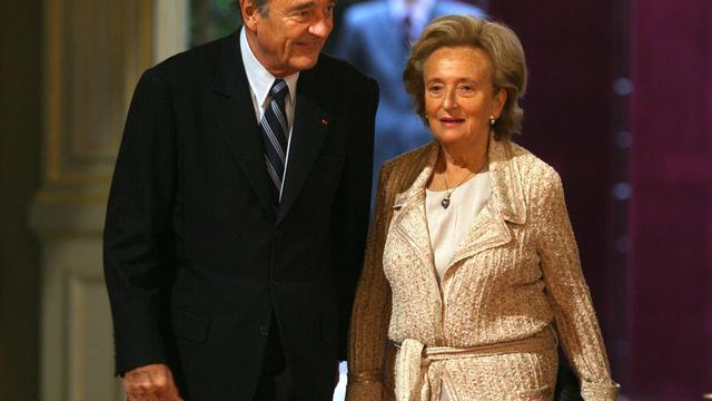 Jacques et Bernadette Chirac le 19 janvier 2007 à l'Elysée [Patrick Kovarik / AFP/Archives]