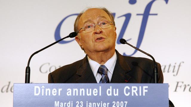 Roger Cukierman, élu dimanche président du Conseil représentatif des institutions juives de France (Crif), le 23 janvier 2007à Paris [Thomas Coex / AFP/Archives]