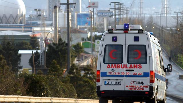 Une ambulance turque [ / AFP/Archives]