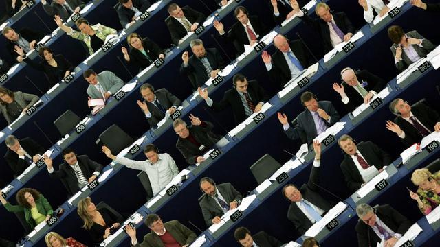 Le Parlement européen en 2007 [Gerard Cerles / AFP]