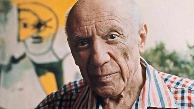 Pablo Picasso le 13 octobre 1971 à Mougins [Ralph Gatti / AFP/Archives]