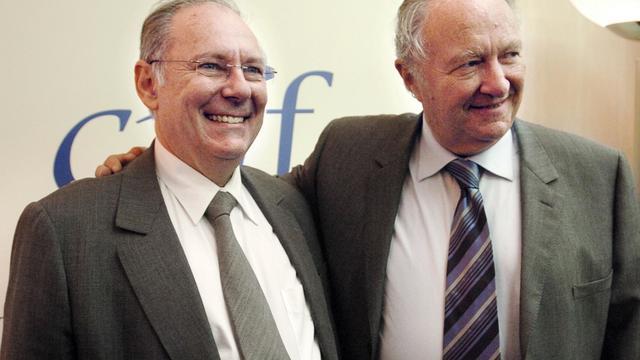 Roger Cukierman (d) et Richard Prasquier, le 13 mai 2007 à Paris [Jean Ayissi / AFP/Archives]