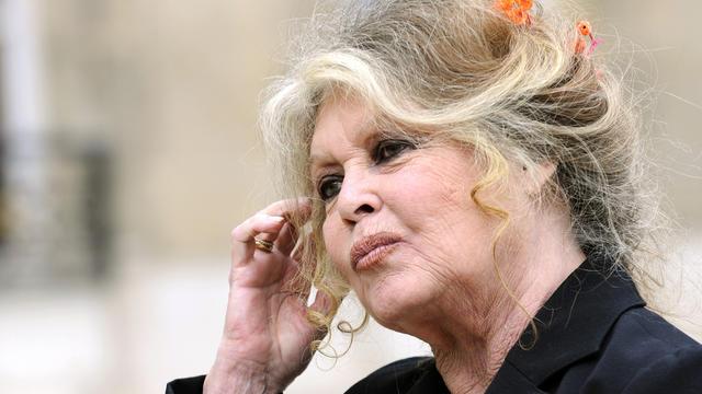 L'actrice française et activiste des droits des animaux Brigitte Bardot quitte le Palais de l'Elysée, le 27 septembre 2007 à Paris [Eric Feferberg / AFP/Archives]