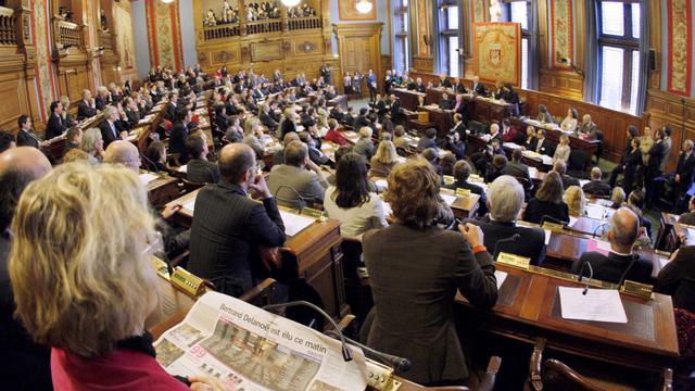 Une des cessions du Conseil de Paris [Pierre Verdy / AFP/Archives]