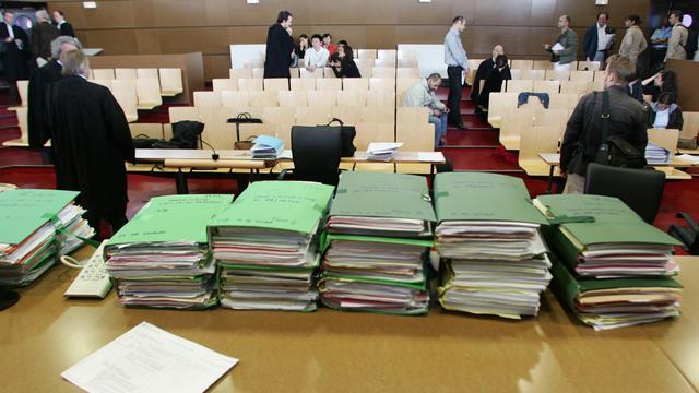 Une salle d'audience du tribunal de Bobigny [Jean-Pierre Muller / AFP/Archives]