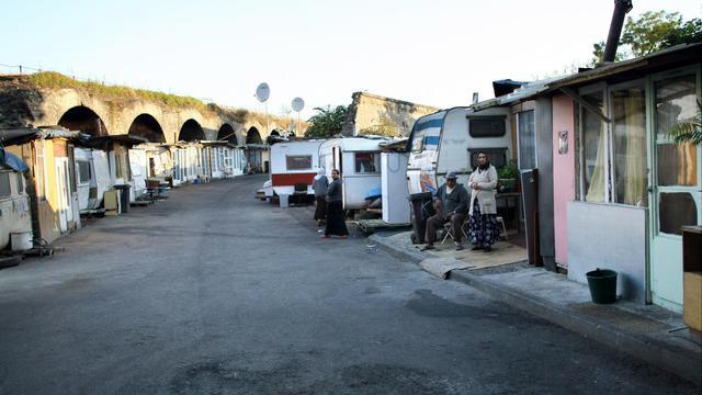 Un camp de Roms à Saint-Denis en banlieue parisienne, le 23 juillet 2008 [Thomas Coex / AFP/Archives]