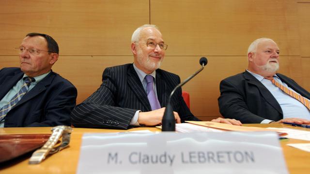 Claudy Lebreton, au centre, président de l'ADF, le 15 septembre 2008 à Paris [Lionel Bonaventure / AFP/Archives]