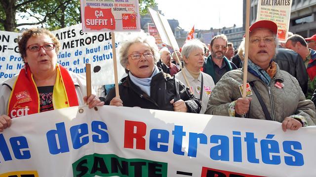 Manifestation de retraités le 16 octobre 2008 à Lille