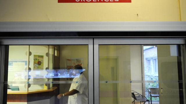 L'entrée d'un service d'Urgences à Paris [Stephane de Sakutin / AFP/Archives]