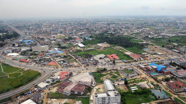 Vue aérienne de Port-Harcourt au Nigeria [Pius Utomi Ekpei / AFP/Archives]