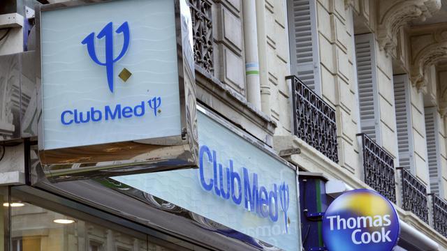 Photo prise le 27 avril 2009 à Paris d'une enseigne du groupe de tourisme, le Club Méditerranée [Stephane de Sakutin / AFP/Archives]