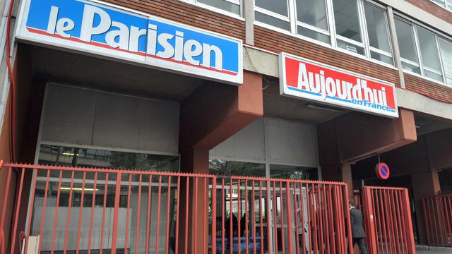 Les locaux du quotidien Aujourd'hui en France/Le Parisien à Saint-Ouen [Miguel Medina / AFP/Archives]