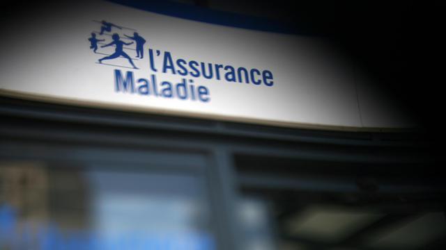 Photo du logo de la Sécurité sociale à la Caisse Primaire d'Assurance Maladie [Fred Dufour / AFP/Archives]