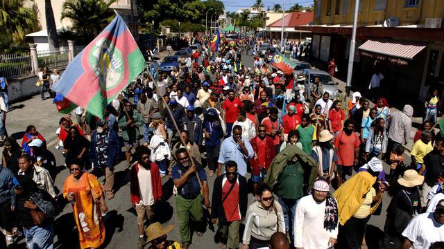 Une manifestation à Nouméa, le 22 août 2009 [Marc Le Chelard / AFP/Archives]