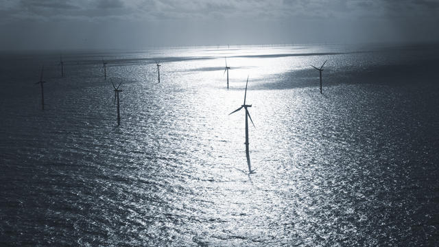 Des éoliennes en mer [Jasper Carlberg/Dong / Scanpix/AFP/Archives]
