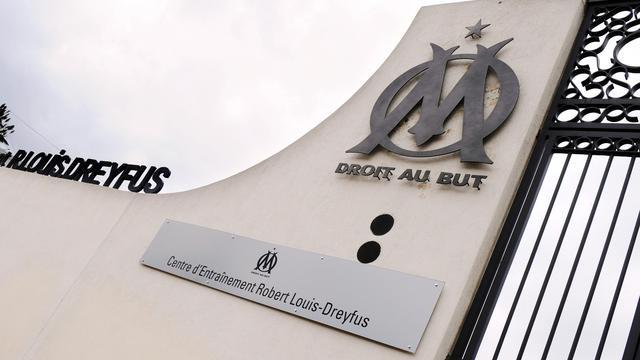 L'entrée du centre d'entraînement de l'OM Robert Louis-Dreyfus [Gerard Julien / AFP]