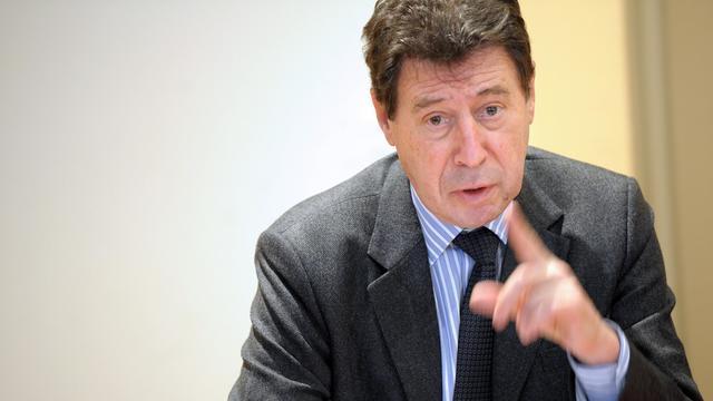 Le maire PRG de Bastia, Emile Zuccarelli, le 16 janvier 2010 à Bastia [Stephan Agostini / AFP/Archives]