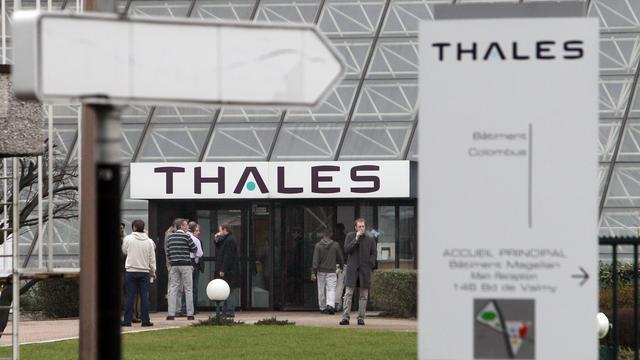 Photo prise le 08 février 2010 à Colombes de l'entrée du site du groupe de défense Thalès. [Thomas Coex / AFP/Archives]