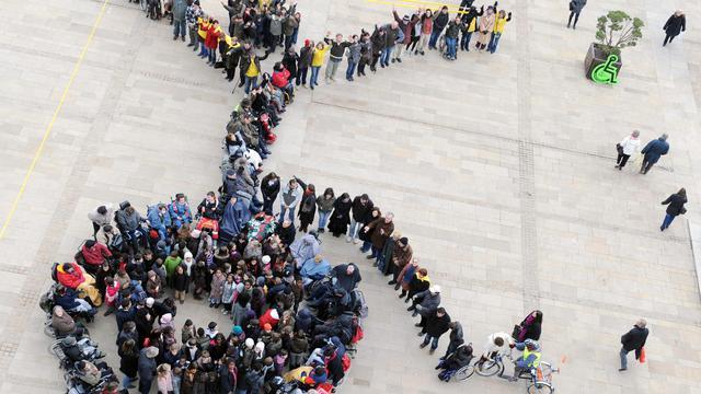 Un rassemblement de l'Association des Paralysés de France, le 8 février 2010 au Mans [Jean-Francois Monier / AFP]