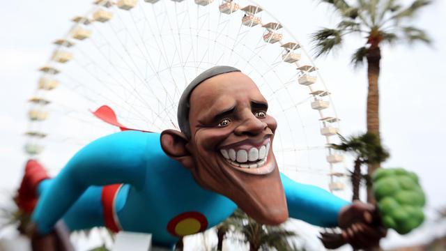 Quatre ans après avoir soulevé une vague d'enthousiasme, Barack Obama fait moins rêver les Européens qui, accaparés par la crise, suivent à distance et avec des attentes limitées le duel entre le président américain et son rival républicain Mitt Romney. [AFP]