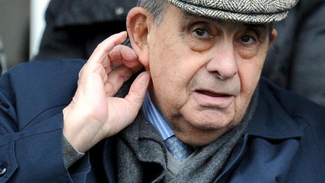 Pierre Fabre, créateur du géant pharmaceutique, lors d'un match de Top 14 à Castres le 27 mars 2010 [Remy Gabalda / AFP]