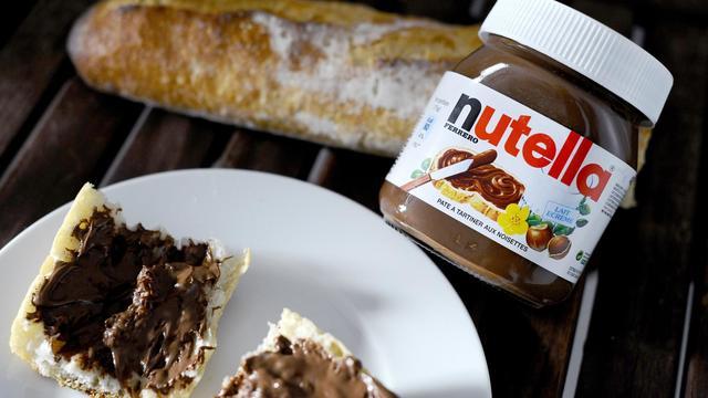 Un pot de Nutella.