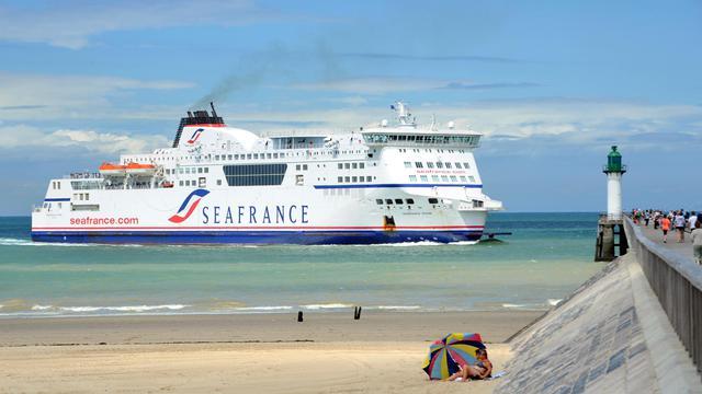 Un navire de l'ex-compagnie SeaFrance à Calais, en 2010 [Denis Charlet / AFP/Archives]