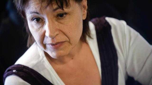 La présidente de Résistance républicaine, Christine Tasin, le 16 septembre 2010 à Dijon [Jeff Pachoud / AFP/Archives]