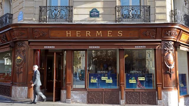 La devanture d'un magasin Hermès à Paris [Miguel Medina / AFP/Archives]
