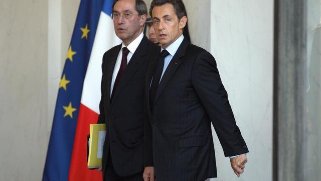 Claude Guéant et Nicolas Sarkozy le 4 novembre 2010 à l'Elysée [Thomas Samson / AFP/Archives]