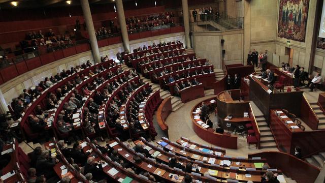 Le Conseil économique, social et environnemental (Cese) en assemblée plénière, le 16 novembre 2010 à Paris [Jacques Demarthon / AFP/Archives]