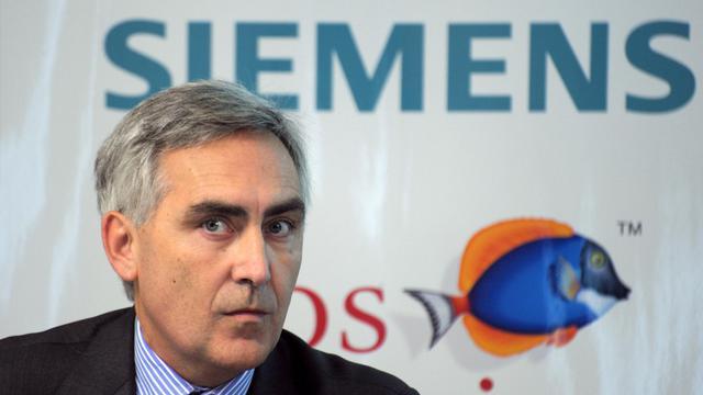 Le PDG de Siemens Peter Löscher, le 15 décembre 2010 à Paris [Eric Piermont / AFP/Archives]