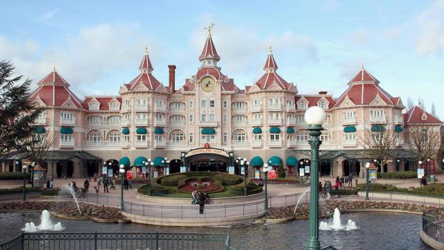 L'entrée de l'hôtel Disneyland à Eurodiney à Chessy, dans l'est de Paris, le 15 janvier 2011 [Thomas Samson / AFP/Archives]