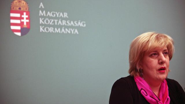 La représentante pour la liberté des médias de l'OSCE, Dunja Mijatovic, le 18 janvier 2011 à Budapest [Balint Porneczi / AFP/Archives]