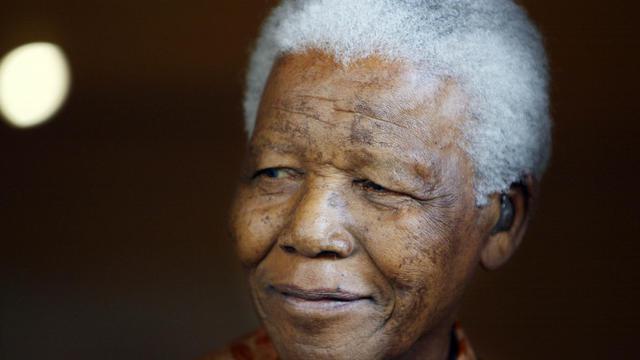 Portrait de Nelson Mandela le 26 octobre 2005 à Johannesburg [Gianluigi Guercia / AFP/Archives]