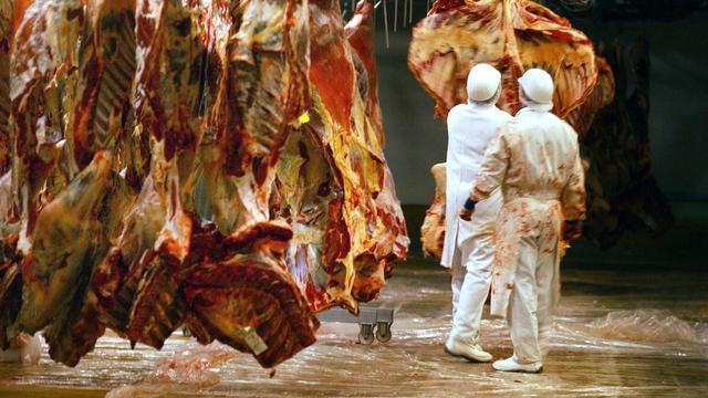 Un abattoir [Frank Perry / AFP/Archives]